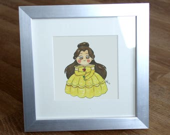 Illustration Mini Belle (beauty and the beast)