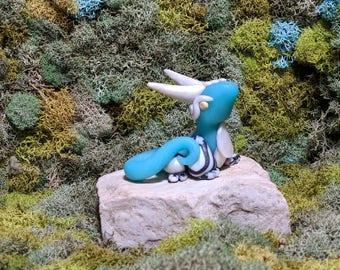 Alice Dragon  - Polymer Clay dragon - Dragon Sculpture - Clay Dragon - Geekery - Desk Buddy - Dragon Figurine - Cute Dragon - Wonderland