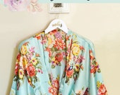 Floral Bridesmaid Robes Wedding Day Robes Bridal Party Robes Floral Robe for Bridesmaids Maid of Honor Robes (EB3271M) photo