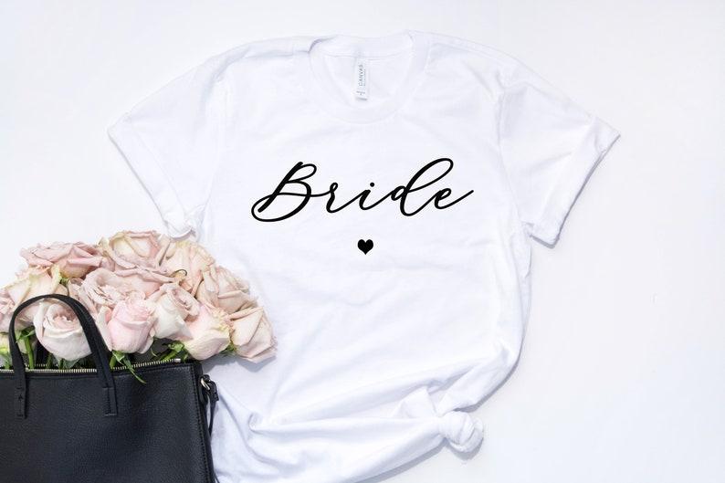 Bruid bruid T-shirt cadeau bruid stam t-shirts bruids douche image 0