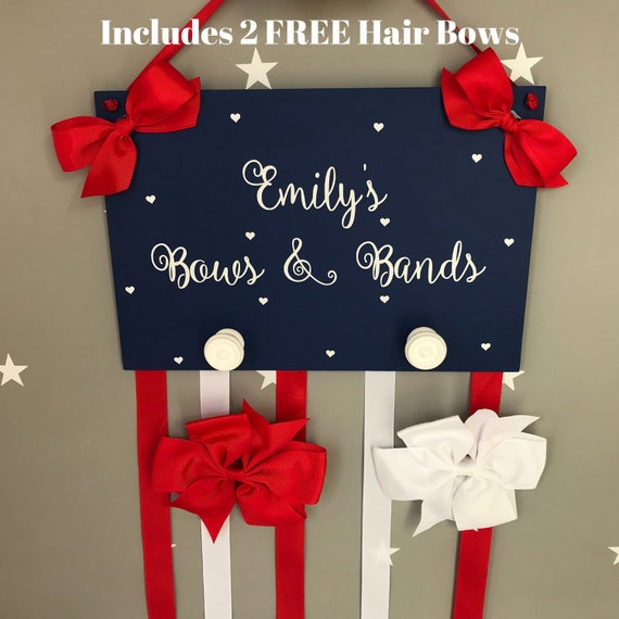 Rainbow hair bow holder  hairbow organiser  girls bedroom accessory