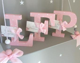 wooden letter nursery decor wooden letters Nursery letters name letters nursery baby name letter nursery name letter wooden name letter