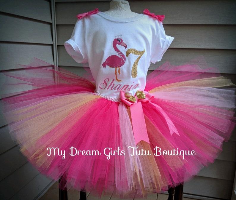 Tutu Flamingo compleanno fenicottero vestito vestito di  fb5e473c61b8
