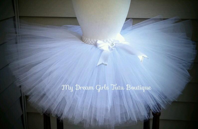 861985ef2 Blanca flor niña tutu tutu blanco boda falda de niña de las