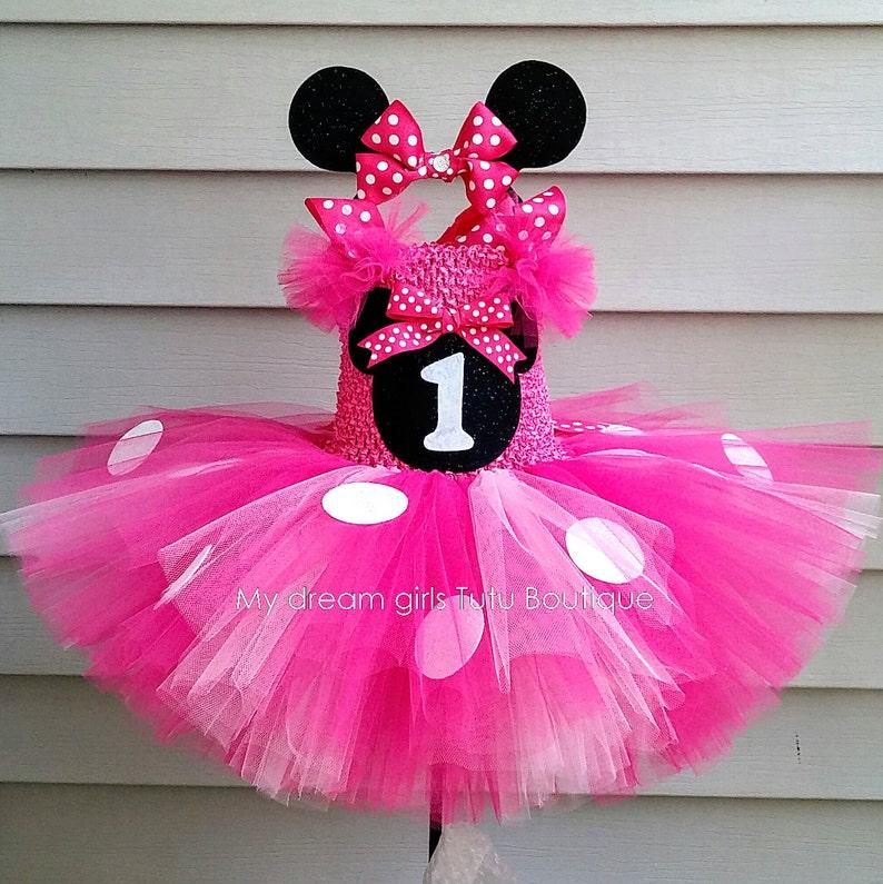 385adfb18 Minnie mouse tutu dress and headband set hot pink minnie
