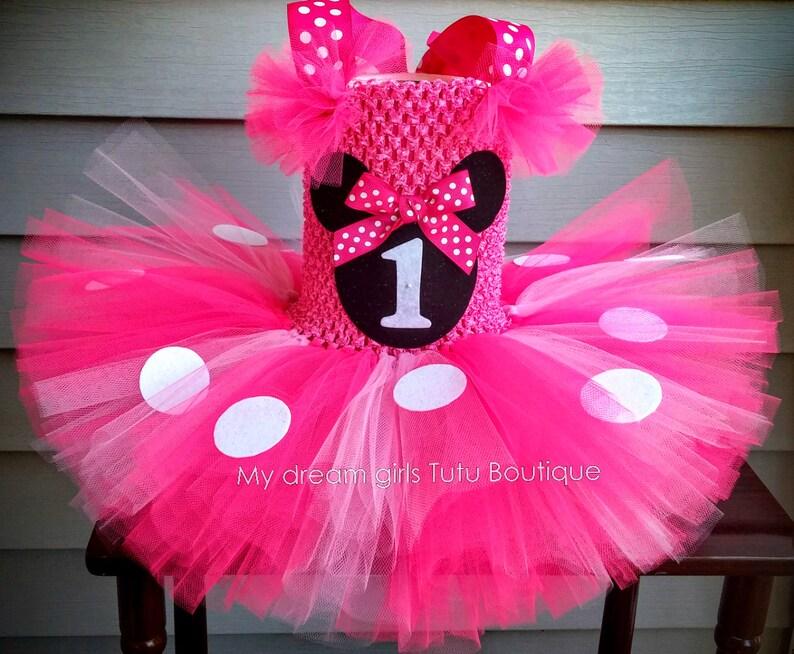 5dda0b595f Vestido de Minnie mouse para bebe tutu Minnie Mousse para
