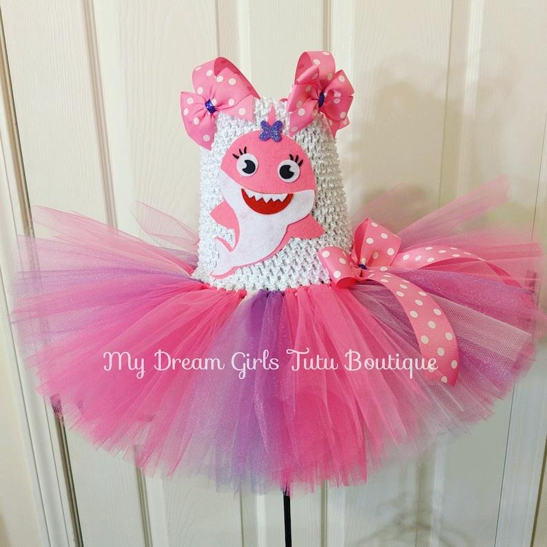 Baby Shark tutu dress Baby shark birthday dress Baby shark do do do do party dress baby shark outfit for girls Pink and purple babyshark