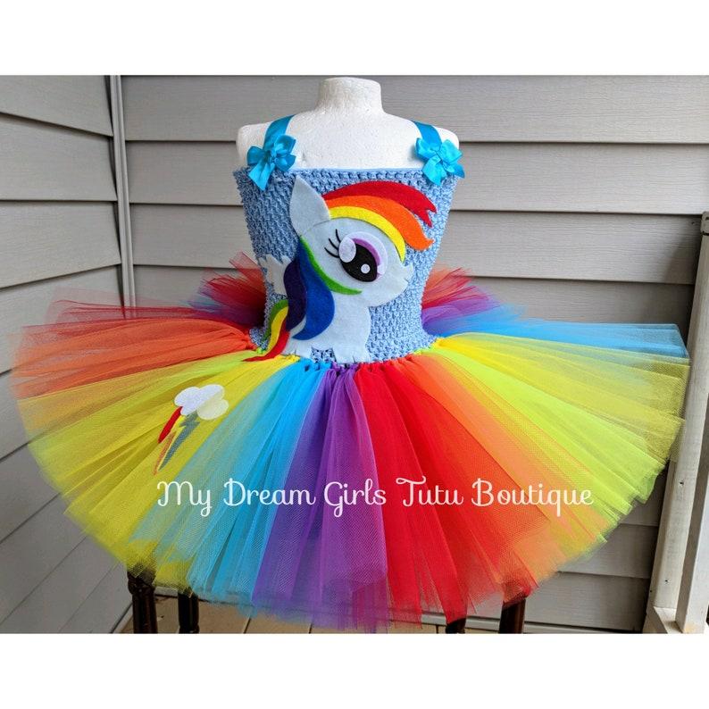 3b0ec35f773c Rainbow Dash My little pony Halloween dress Rainbow Dash tutu | Etsy