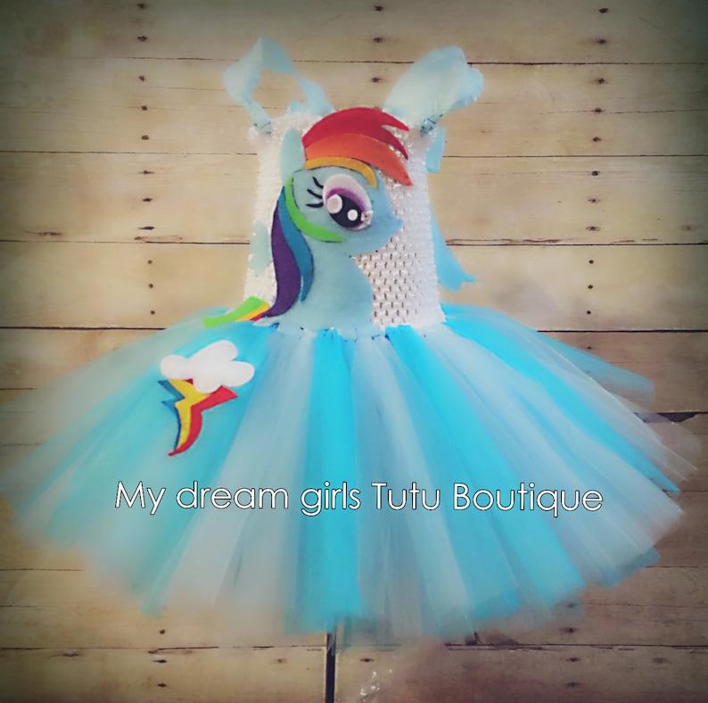 Rainbow dash inspired tutu dress Rainbow dash My little Pony  7236201e9b10