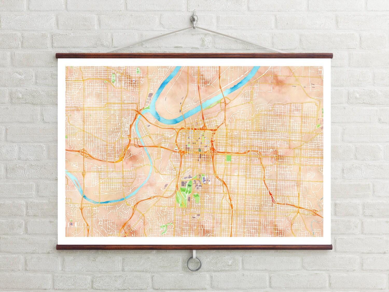 Map of Kansas City Kansas City Kansas City art Kansas City | Etsy