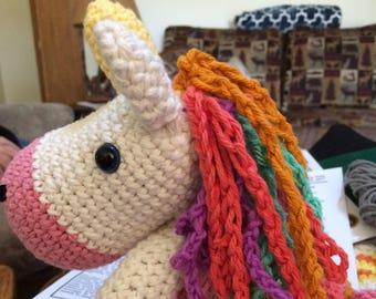 Hand Crocheted Unicorn