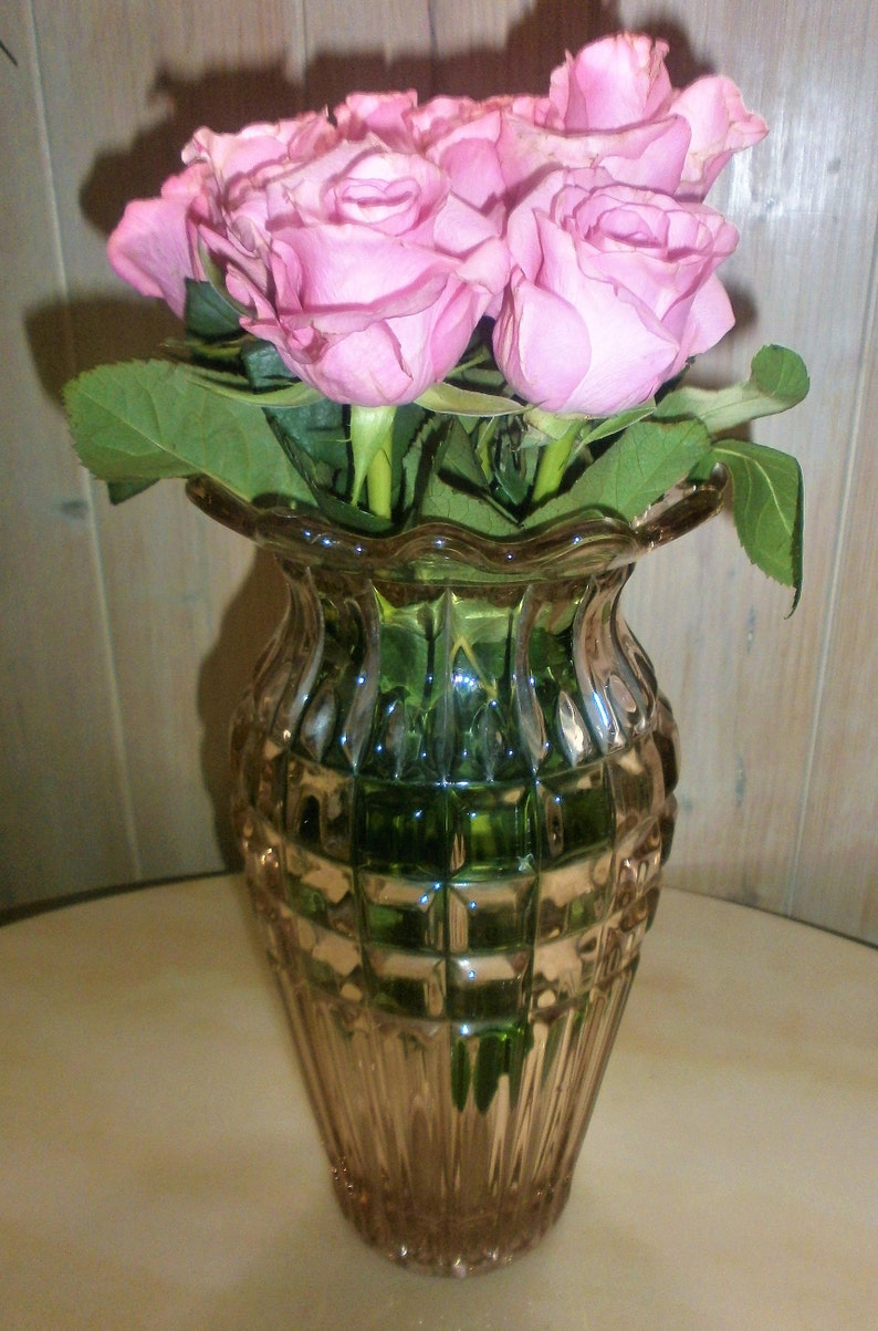French Art Deco Depression Glass Pink Mud 1930 Art Etsy