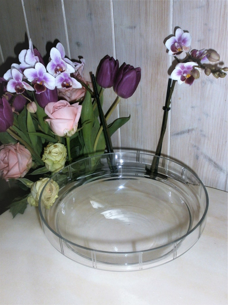 French Antique Fruits Bowl in copper and chiseled crystal glass 1900/'sAntique center table