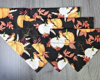 Delightful Fall Scene Dog Bandana/ No Tie Bandana