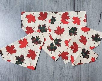 Maple Leaf Dog Bandana/Cat Bandana/ No Tie Bandana/ Over the Collar Bandana