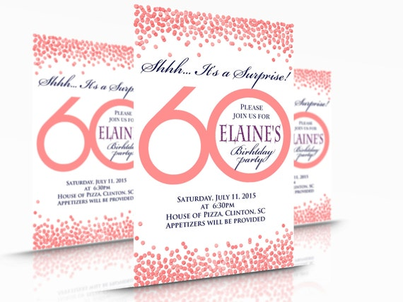 Para Imprimir Aniversario Fiesta Invitación O Tarjeta Gracias Adulto De Cualquier Edad 30 40 50 60 70 80 6
