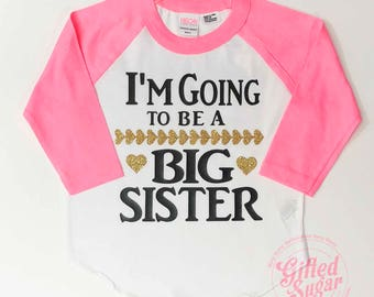 Big Sister shirt, baby announcement, pregnancy announcement