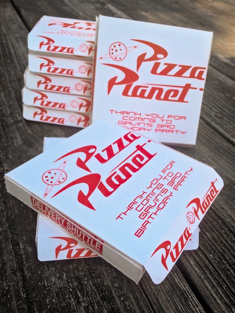 Toy Story Pizza Box Template Pizza Planet Cookie Favor Box  ccdcd8919058