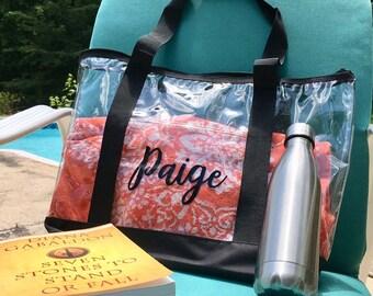 7664e07b84f Personalized Clear Tote Bag -