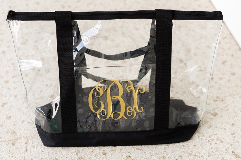 Bridesmaid Gifts Monogrammed Pool Bag Gifts for Women Large Clear Zipper Tote Monogrammed Clear Tote Bag Personalized Tote Bag