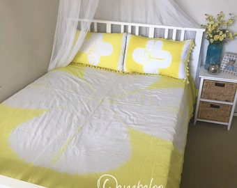 ON SALE!!!!    Tie Dye Bedding, bed spread, doona cover, duvet, with matching pillow cases, home decor, hippie, boho, bedroom decor