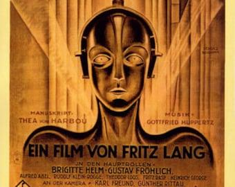 Sci-Fi METROPOLIS Movie Film Germany Fritz Lang German Vintage Poster Repro FREE SHIPPING