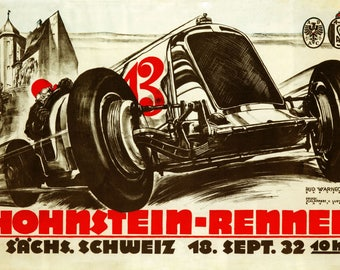 Hans Stuck Car Automobile Race Germany 16X20 Vint Poster Repro FREE SHIP in USA
