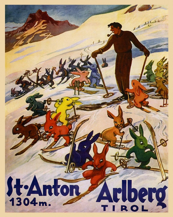 Ski Colorado Lodge Skiing Winter Sport American 16X20 Vintage Poster FREE S//H