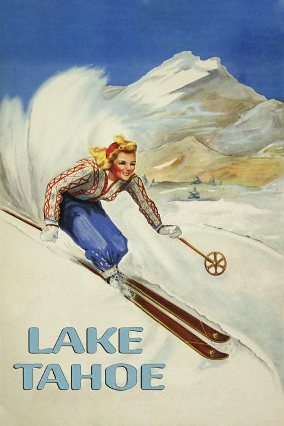 CORTINA D/'AMPEZZO WINTER SPORTS SKIING SKI 1923 ITALY VINTAGE POSTER REPRO