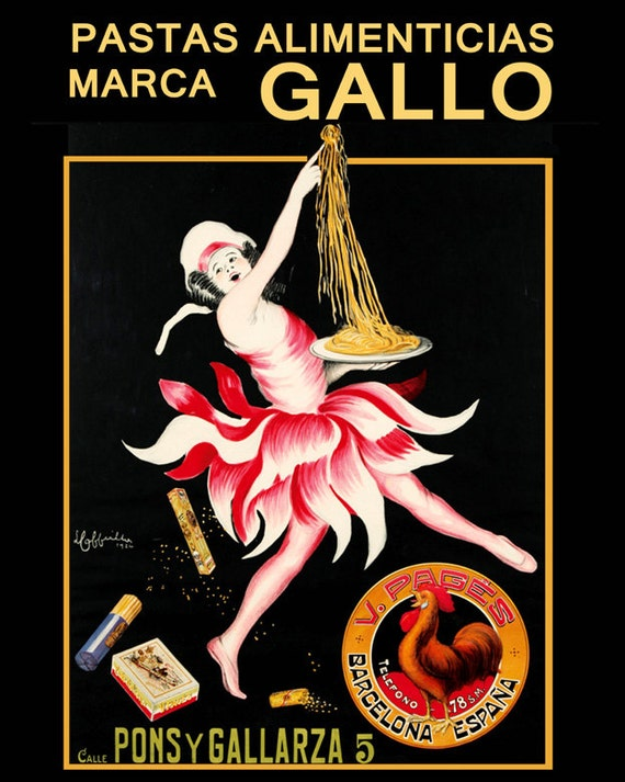 Spaghetti Pasta Italy Italia Italian World Food 16X20 Vintage Poster FREE S//H