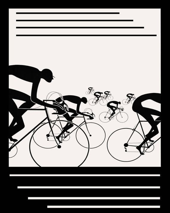 Riding Bicycle Cycle in Illinois American Sport 16X20 Vint Poster Repro FREE SH