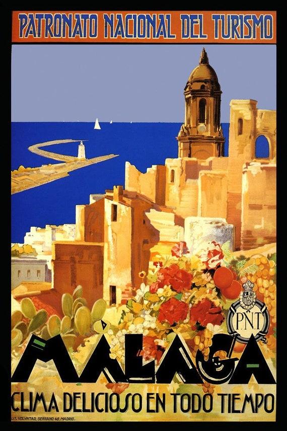 Vintage 1934 Zaragoza Fiesta Spanish Tourism Poster A3 Print