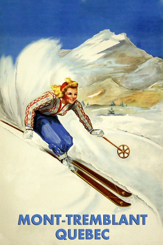 POSTER SKI IN BEAVER CREEK COLORADO DOWNHILL SKIING SPORT VINTAGE REPRO FREE S//H