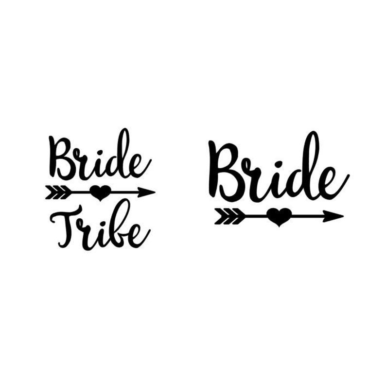 Bride and Bride Tribe with Heart Arrow  Matte Heat Transfer image 0