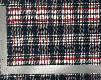 Triple Layer Plaid Fabric Bow