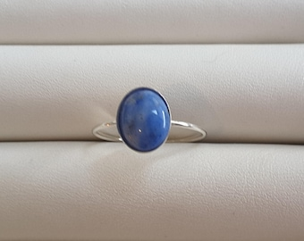 Simple Lapis silver ring