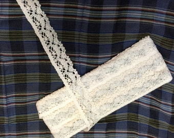 Indian Crochia White Trim and Border In 1.25 Inches Width
