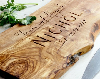 Personalized Rustic Wooden Chopping Cutting Cheeseboard | Personalized Anniversary | Personalised Birthday | Gift | Christmas Gift