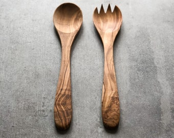 Salad Servers Gift Christmas Wooden Utensils Wooden Utensil Set Kwanzaa Kitchen Decor Zebra Gift Set