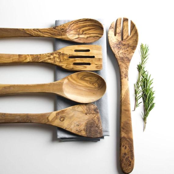 Zestaw drewnianych lyzek