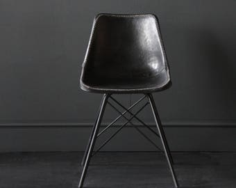 Industrial Eames Style  Chair on Cross Legs