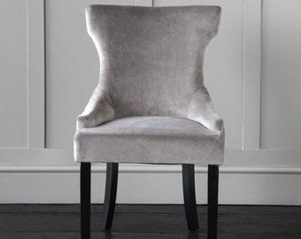 Venus Velvet Dining Chair (Light Grey)