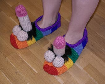 Funny Slippers Etsy