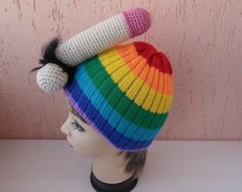 Cock crochet knit pattern ring