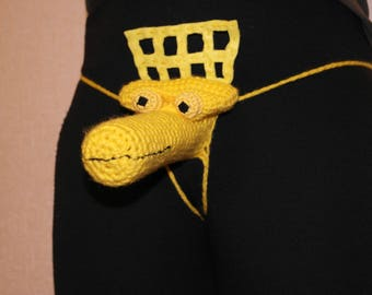 Penis hats,Mens Sexy Underwear Crow T. Robot from Mystery Science Theater 3000(MST3K) Willy Warmer, Erotic mens thong,Penis Warmer Costume,