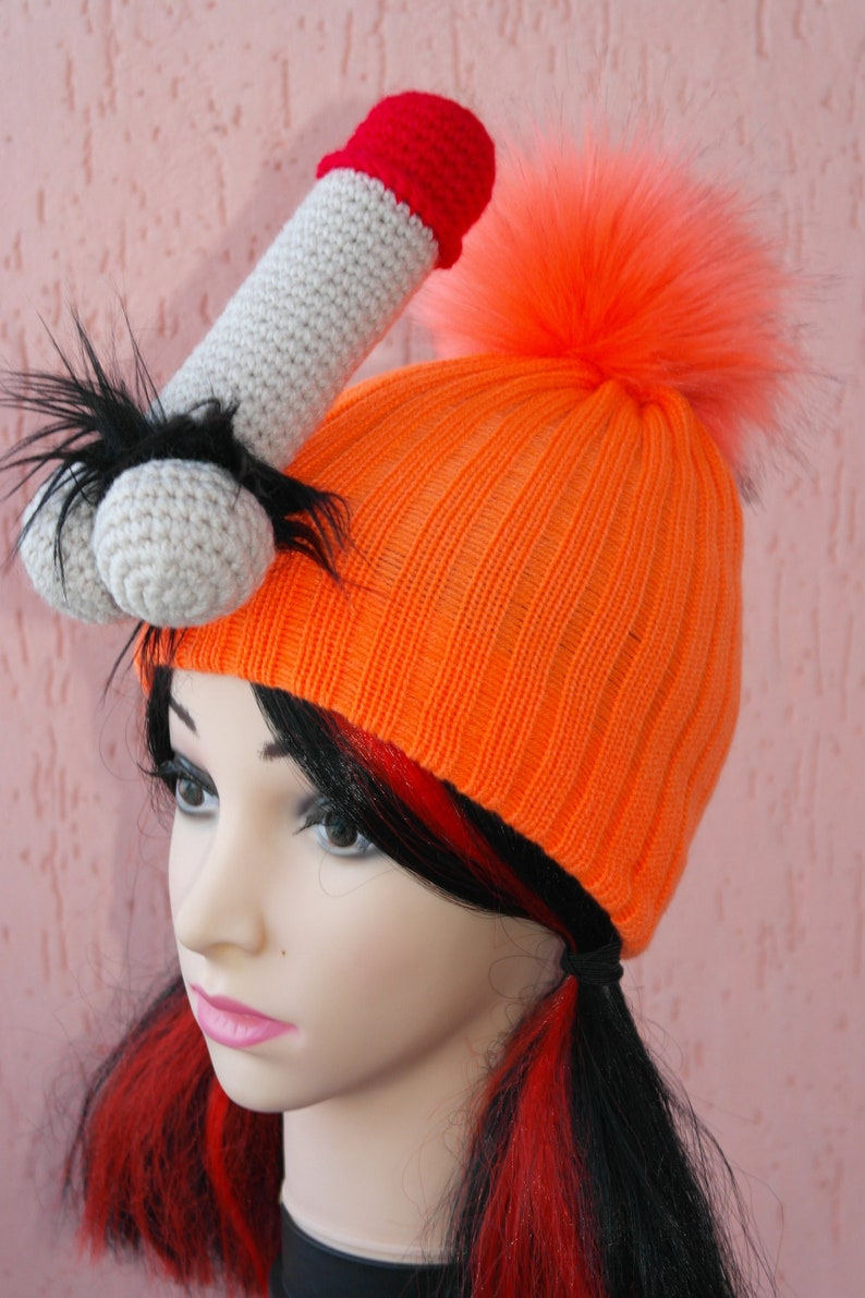 8390f776c80 Penis knitted hat Gift Adult hat penis costume funny hat