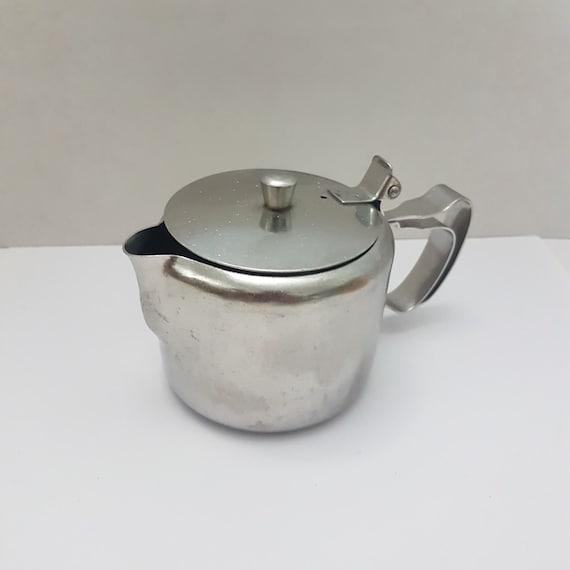 Stainless steel tea pot for one restaurant ware