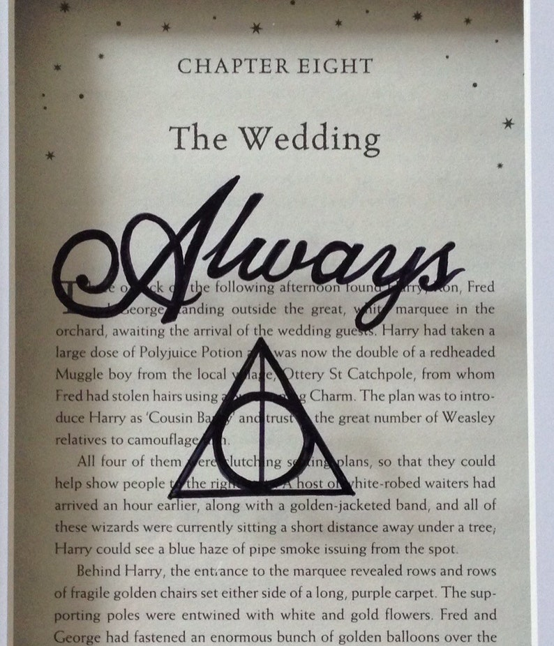 harry potter framed always quote deathly hallows sign