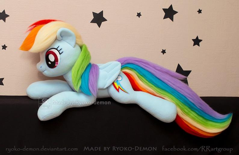 Rainbow Dash Plush Toy 20 30 inches open eyes My Little  457eda0d6d40