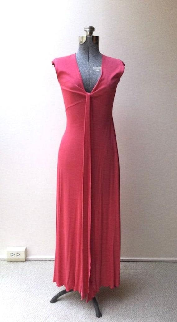 1970's Stephen Burrows Matte Jersey Dress